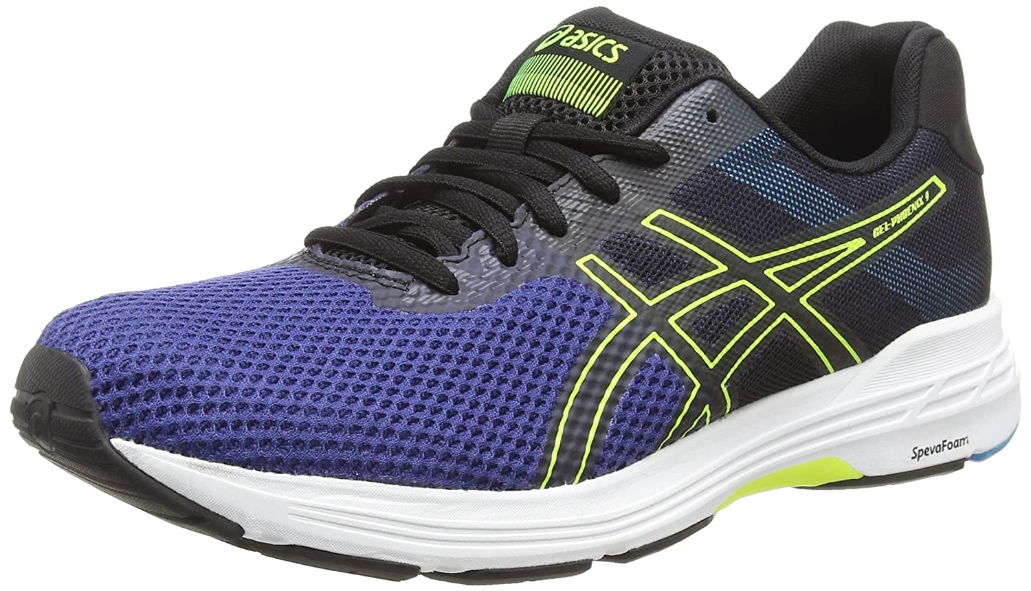 Asics Gel-Phoenix 9, Zapatillas de Running para Hombre 46 EU|Azul (Deep Ocean/Flash Yellow 400)
