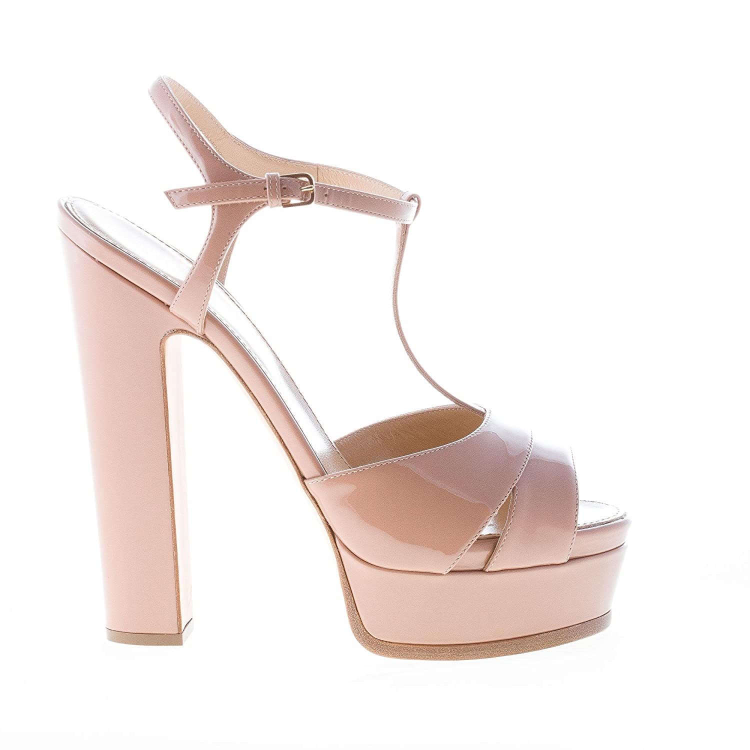 8f06875c440 Sergio Rossi Women Shoes Edwige Bright Skin Patent Leather Sandal with  Platform  Amazon.co.uk  Shoes   Bags