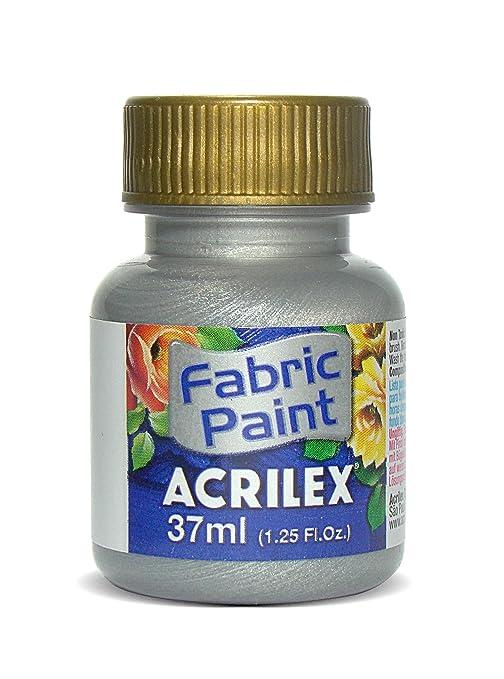 Acrilex 37 ml Tela Pintura de Purpurina - Funda de Piel sintética con