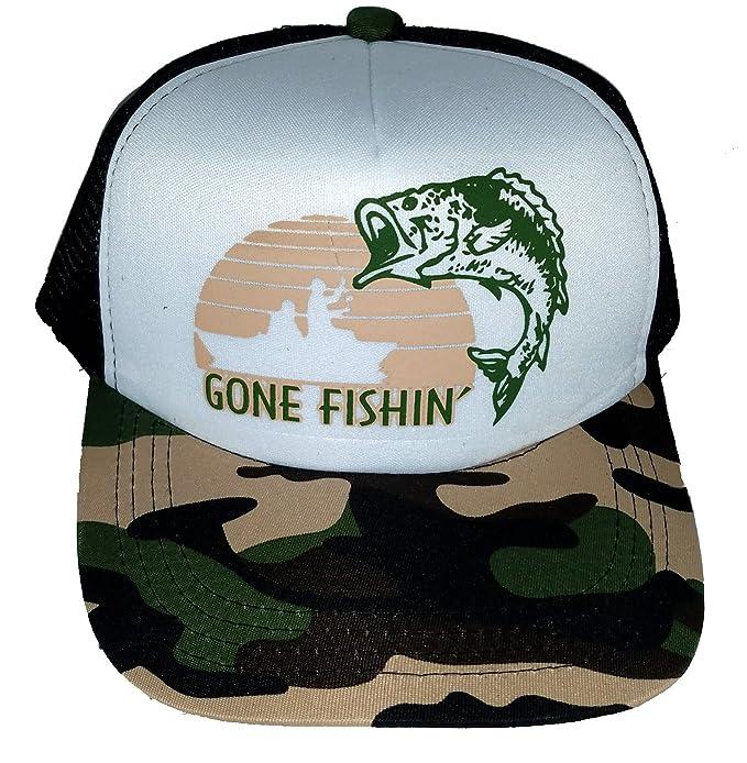 Amazon.com  ThatsRad 7-12 Year Kid s Gone Fishin  Fishing Camouflage ... ea67328d05c