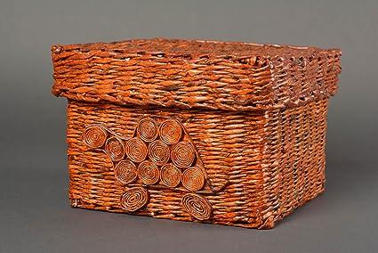 Amazon Beautiful Handmade Paper Box Design Woven Paper Basket