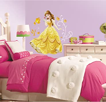 Roommates Rmk2551gm Disney Princess Bell Peel And Stick Giant Wall Decals Amazon Co Uk Diy Tools