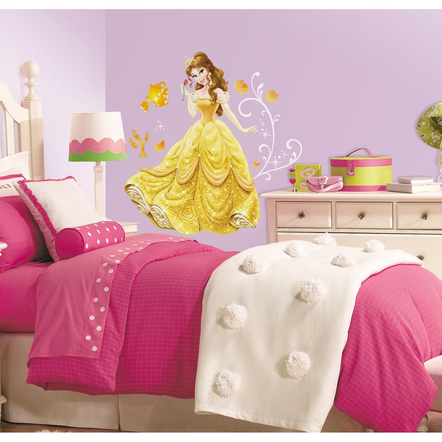 amazoncom roommates rmkgm disney princessbell peel and  - amazoncom roommates rmkgm disney princessbell peel and stick giantwall decals home improvement