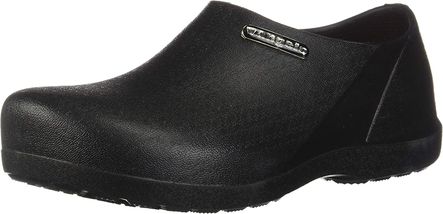 VANGELO Professional Slip Resistant Clog Men Work Shoe Nurse Shoe Chef Shoe Carlisle Black White Lime Multi Color: Shoes