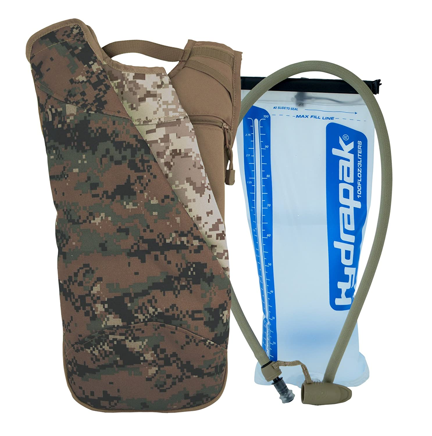 Ditital Camouflage Army Digital Camoufalge Mercury Tactical Gear Code Alpha Chameleon Runners Backpack with 3l Hydrapak Hydration System