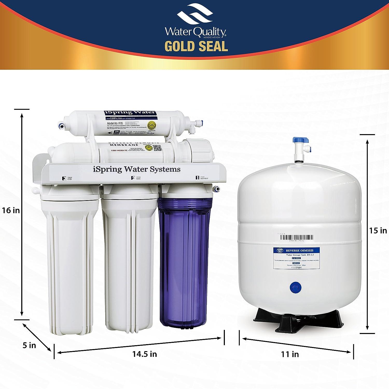 iSpring RCC7 5 Stage Under Sink Reverse Osmosis Drinking Water