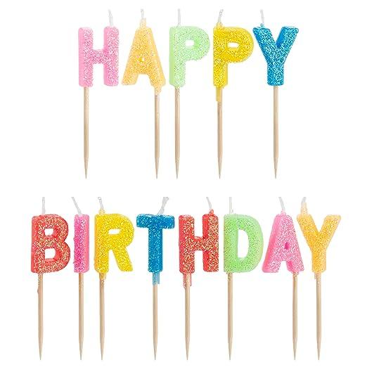 Decor Hut - Velas de cumpleaños (, de tartas, palillos para ...