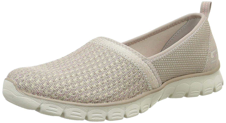 Skechers Women's Ez Flex Big Money Fashion Sneaker B01EOQCM5Q 9 M US|Taupe Knit