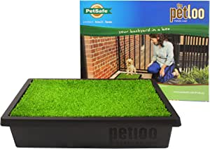 PetSafe Pet Loo - Small Portable Toilet for Dogs and Pets, Compact, Hygienic for Indoor Use, with Grass Pad