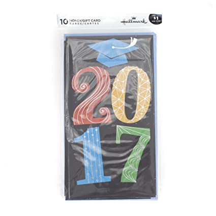 Amazon hallmark graduation money holder or gift card holder hallmark graduation money holder or gift card holder greeting cards 2017 10 cards and m4hsunfo