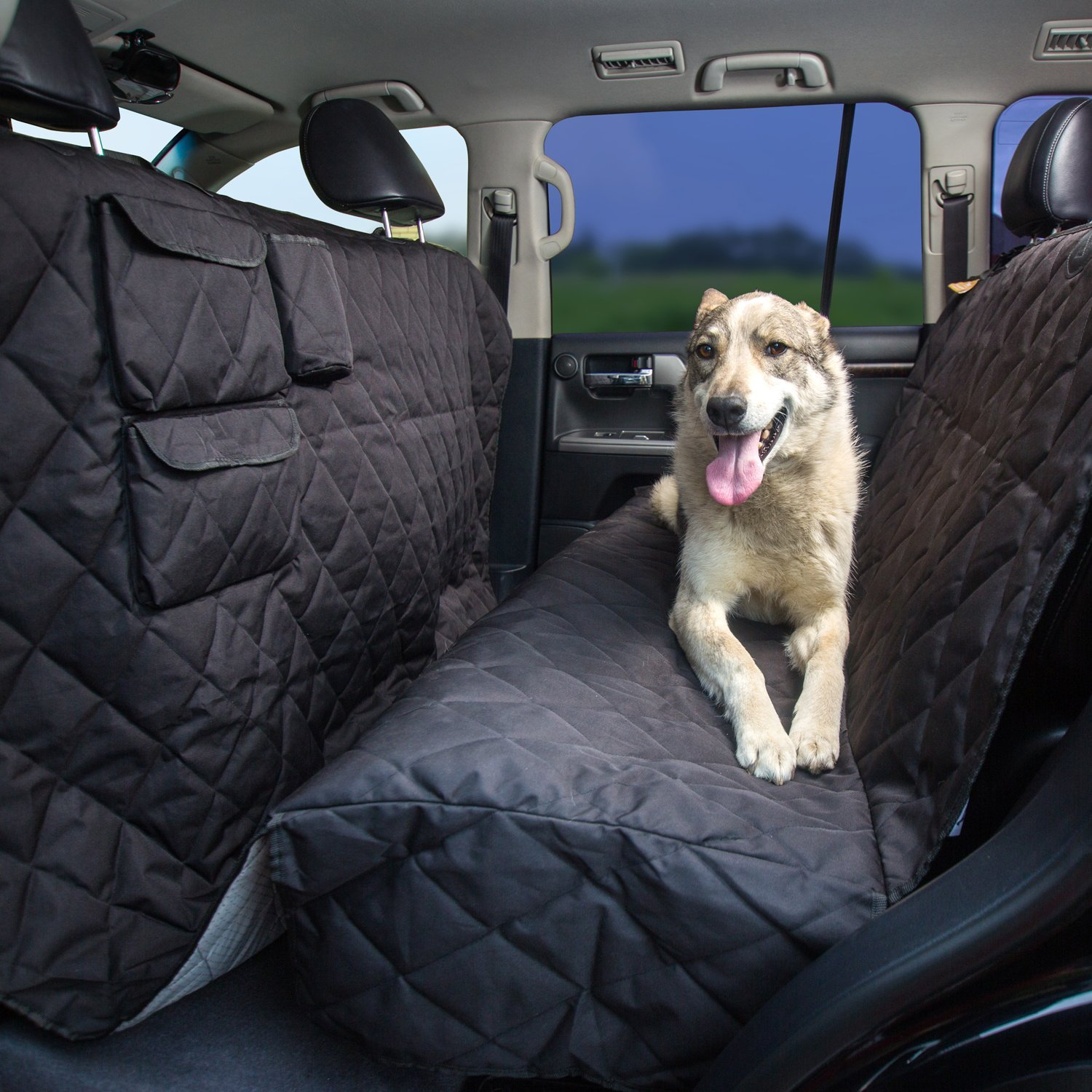 Pet Seat Cover XL - Extra-Large Dog Seat Cover 96''x56'' for Any Cars, Trucks, SUVs, Waterproof, Nonslip, No Odor, Seat Anchors by Tapiona Luxury Pet