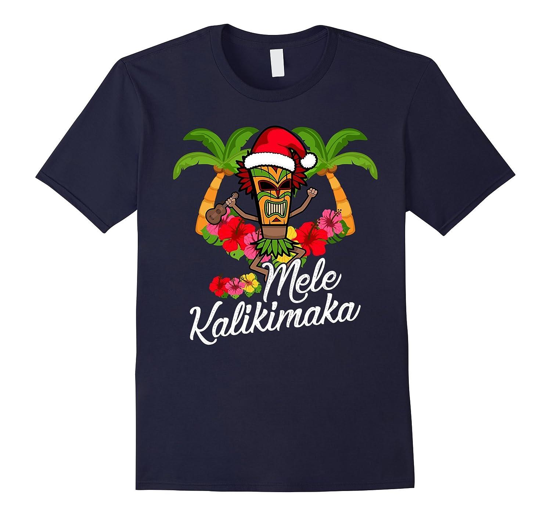Merry Christmas Mele Kalikimaka T-Shirt Hawaii Tiki Ukulele-T-Shirt