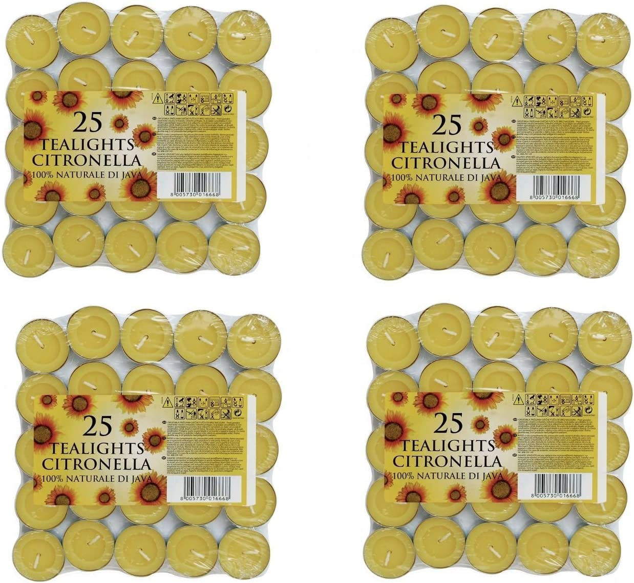 Prices Citronella Tealight Candles Mosquito Fly Insect Repeller Pack Of 100 by Prices Candles
