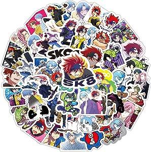 SK8 The Infinity Stickers Anime Pack| 50pcs Aesthetic Langa SK8 The Infinity Manga Adam Reki Cherry Blossom Miya PVC Vinyl Waterproof Anime Cartoon Stickers for Teens Adults DIY Laptop Skateboard Cup: Amazon.ca: Baby
