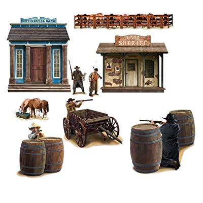 Wild West Shootout Props Party Accessory (1 count) (9/Pkg): Kitchen & Dining