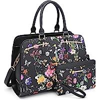 Dasein Women Satchel Handbags Shoulder Purses Totes Top Handle Work Bags with 3 Compartments