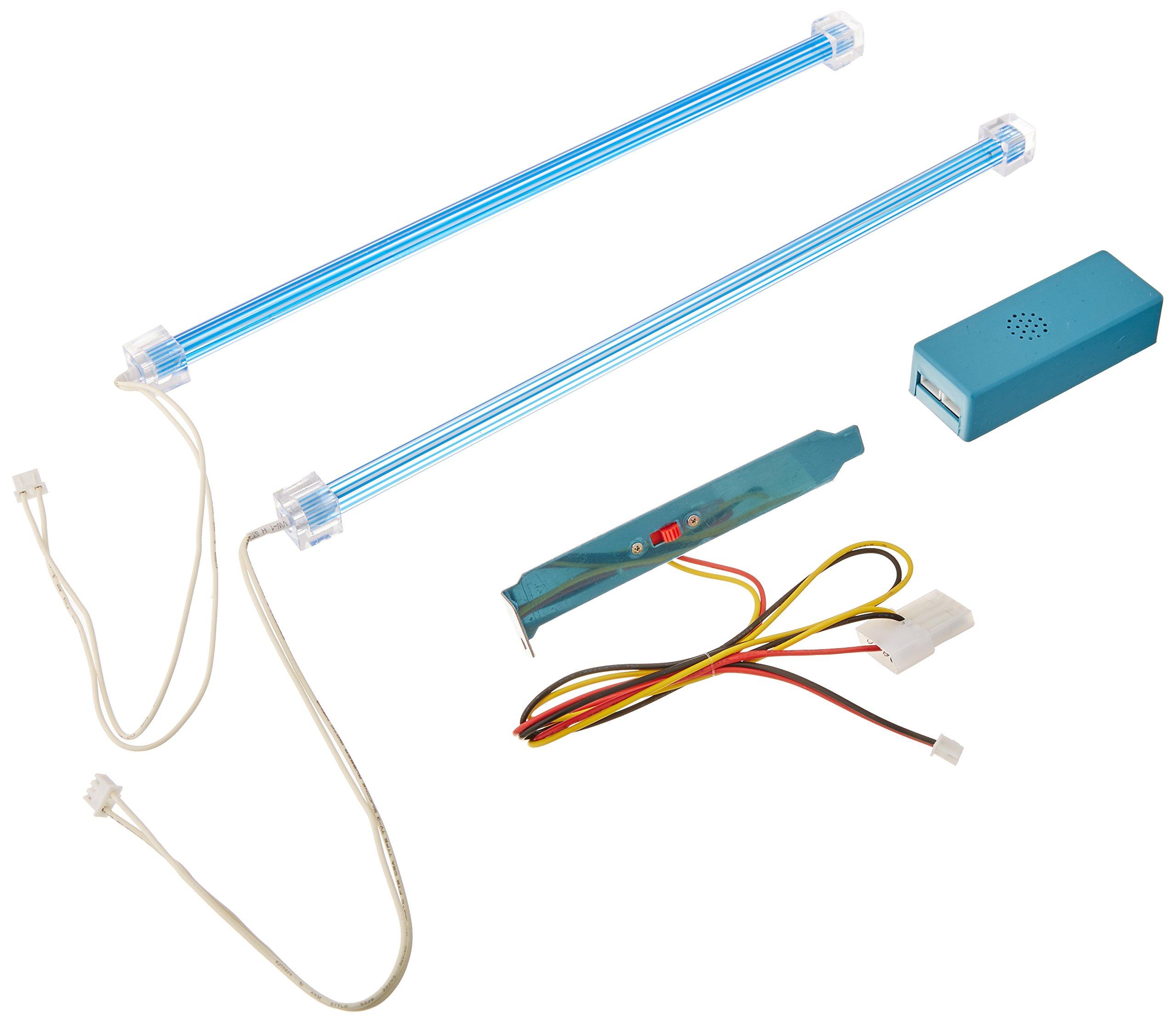 Logisys CLK12BL2 Dual Cold Cathode Light Kit, Blue
