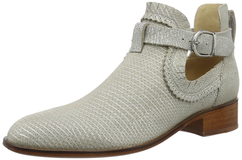 Melvin&Hamilton Alina 7, Zapatillas de Estar por Casa para Mujer39 EU|Grau (Rinca Metal / Perfo Silver /Buckle Silver Ls Nat.)