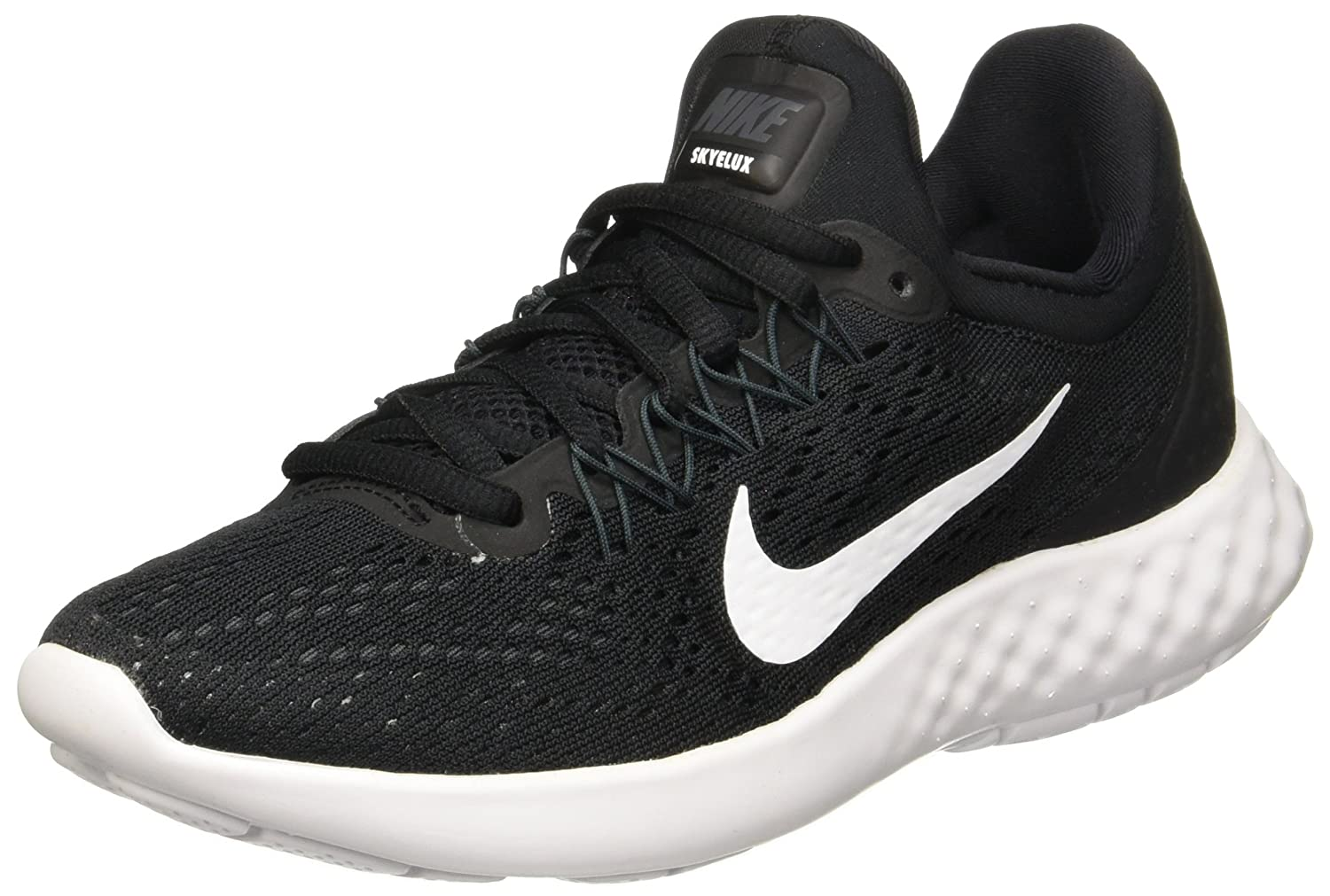 NIKE Womens Lunar Skyelux Round Toe Lace-up Running Shoes B01CJ3N1MO 12 B(M) US|Black/White Anthracite