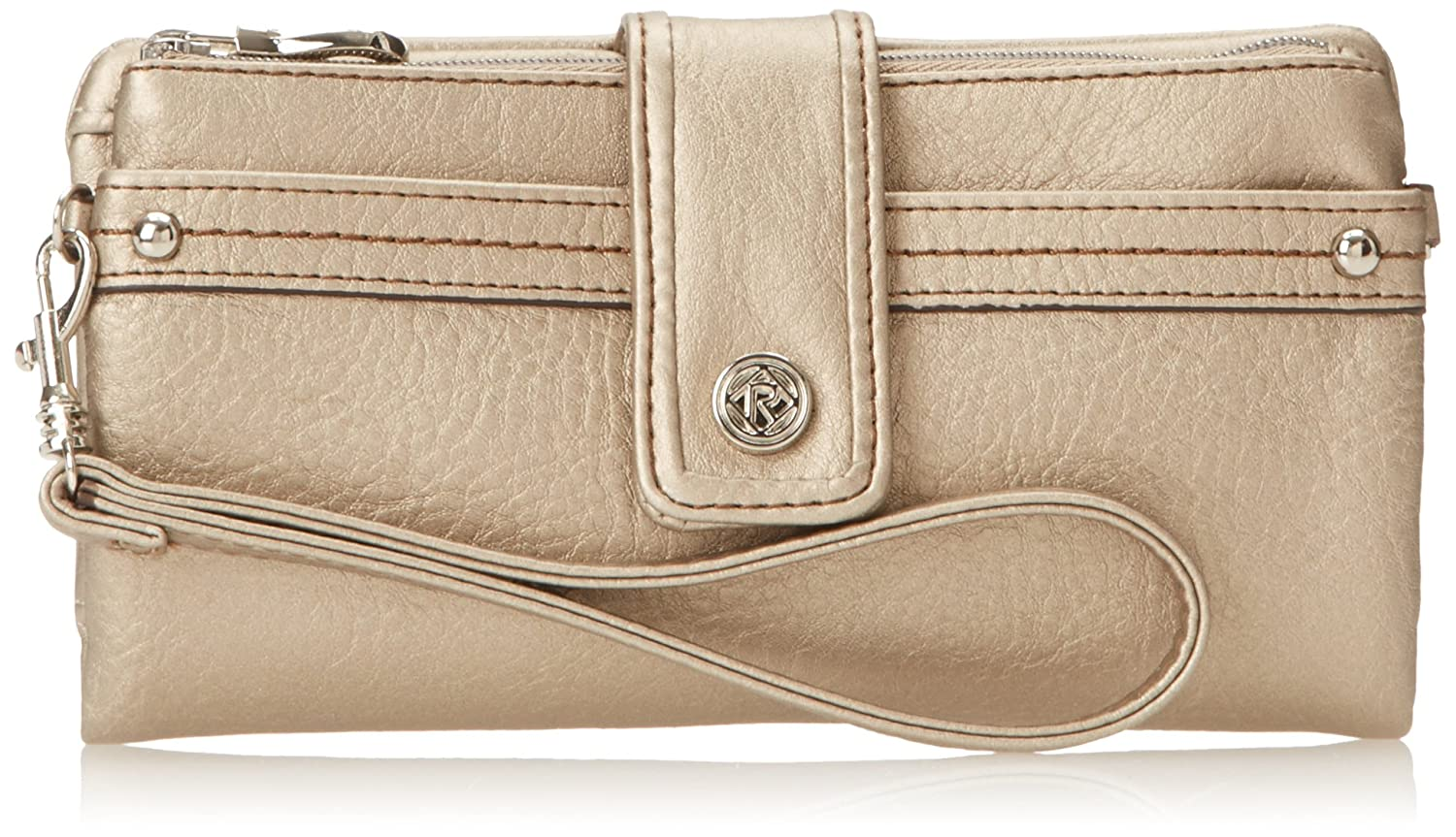 Relic Women's Vicky Tab Checkbook Wallet, Pewter, One Size 6pm Relic Handbags Vicky Tab Ckbk