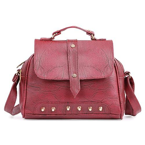 RITUPAL COLLECTION Women s PU Sling Handbag Maroon 716f1b6132cc9