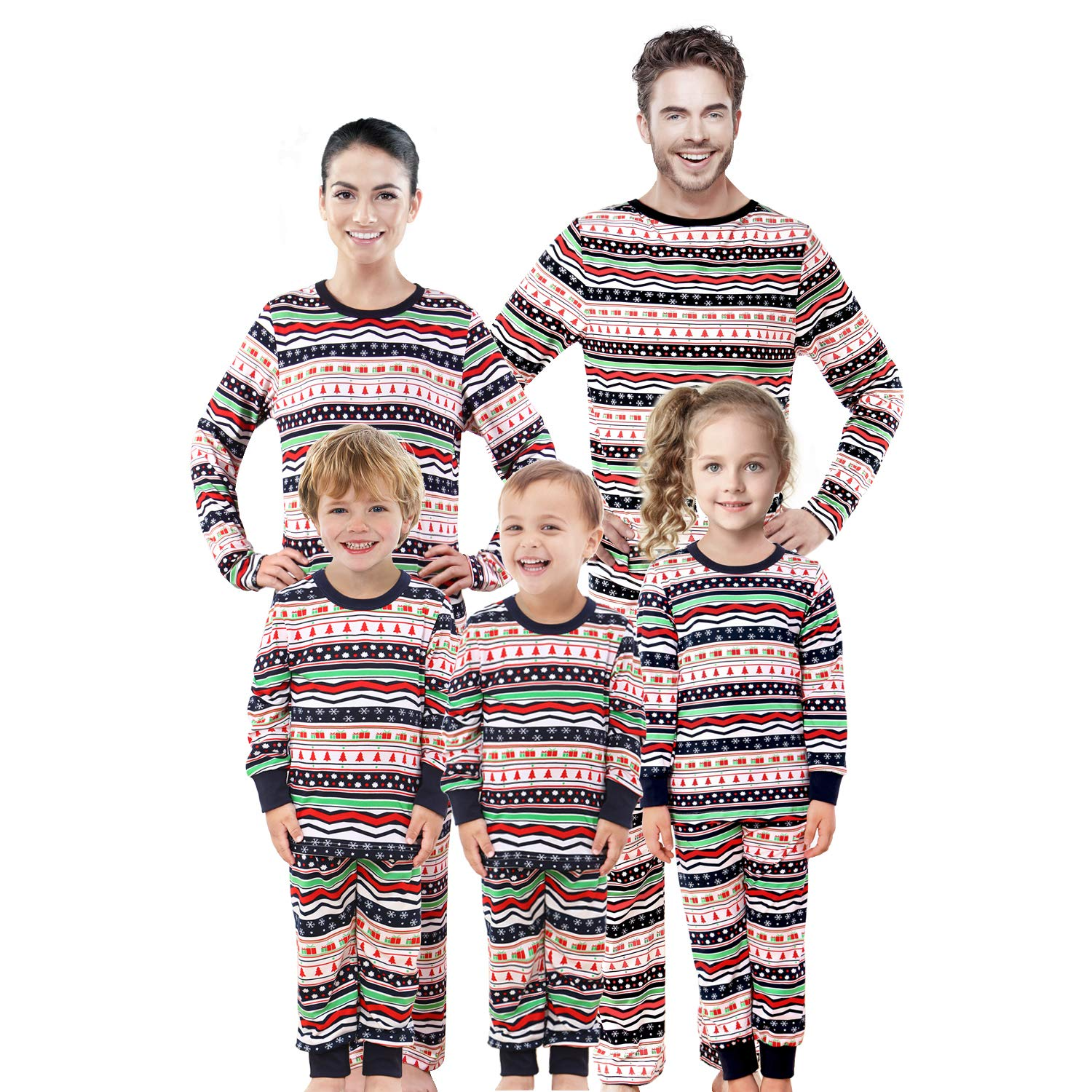 2f34d977f564 Amazon.com: Rnxrbb Family Christmas Pajamas Set Matching Men, Women Youth  PJs Tops Bottoms Warm Classic Red Colors: Clothing