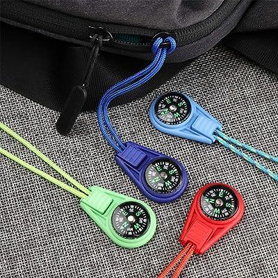 Paracord grip tent//coat//bag zipper pulls survival set of 3