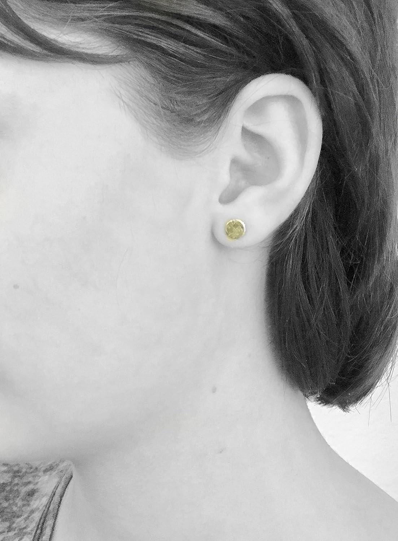 Gold Filled Dandelion Fluff Stud Earrings Tiny Wish Dots Gift For Women