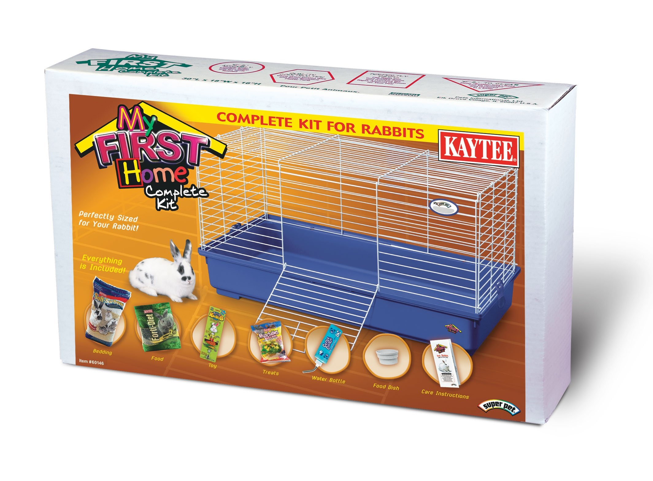 Super Pet My First Home Complete Rabbit Kit, Purple
