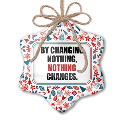 Amazoncom Neonblond Christmas Ornament Change Quotes Red White