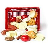 L.A.P. Learn And Play Cestino giocattolo Carne e Formaggi, Multicolore