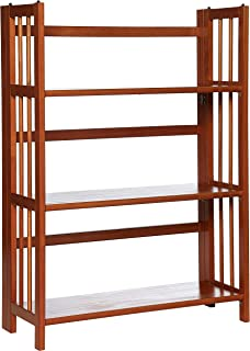 Casual Home 3 Shelf Folding Stackable Bookcase 275 Wide Mahagony