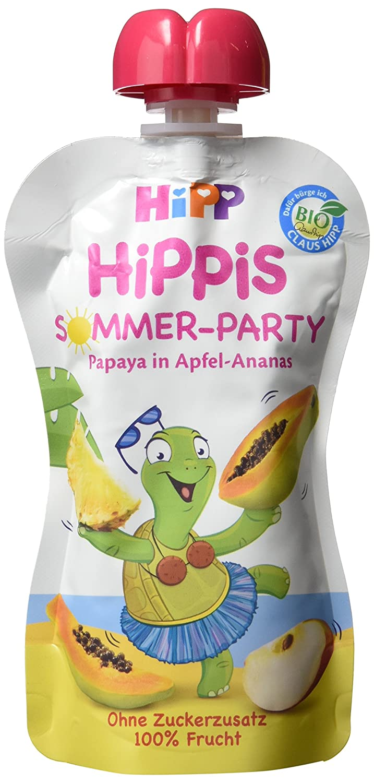 Hipp HiPPiS, Papaya in Apfel-Ananas - Susi Schildkröte, 6er Pack (6 x 100 g) DA42500