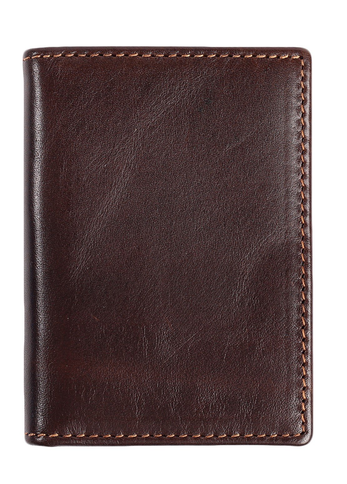 RFID Slim Wallet Men Thin Bifold Front Pocket Wallet Genuine Leather Card Holder (Coffee) by Easyoulife (Image #4)