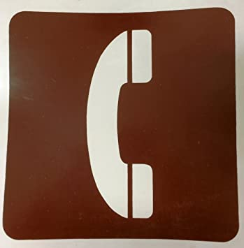 Amazon 3 Each Telephone Symbol Stick On Sign 6 X 6 Inches