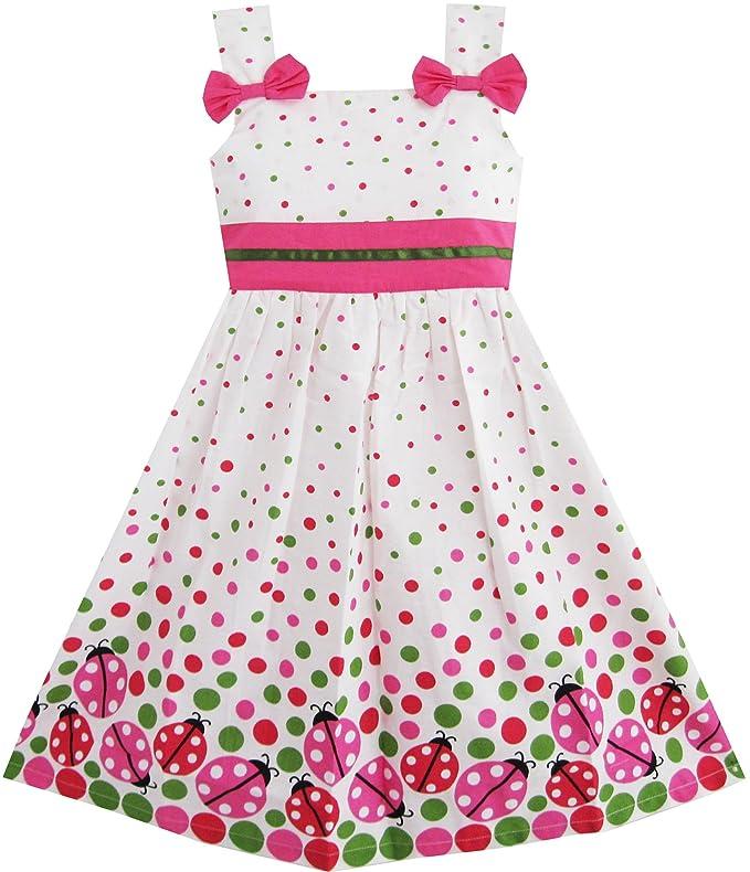 Amazon.com: Sunny Fashion Little Girls' Dress Bug Print Colorful ...