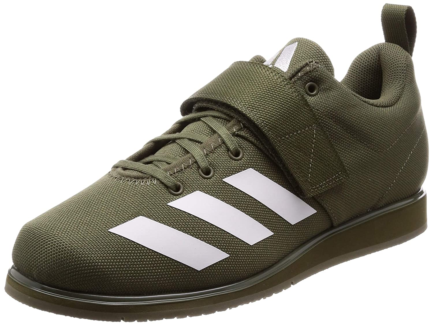 Green (Raw Khaki Ftwr White) adidas Men's Powerlift 4 Fitness shoes