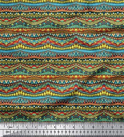 "Soimoi Indian 58/"" Wide Indigo Blue Decorative Shibori Cotton Fabric By The Yard"