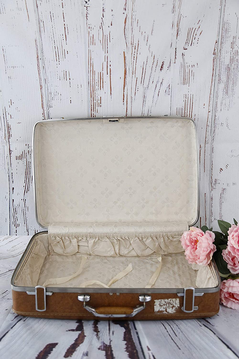 Vintage Trunk Retro Luggage Travel Suitcase Chest Nut Vintage Luggage American Tourister Medium Vintage Luggage Vintage Suitcase