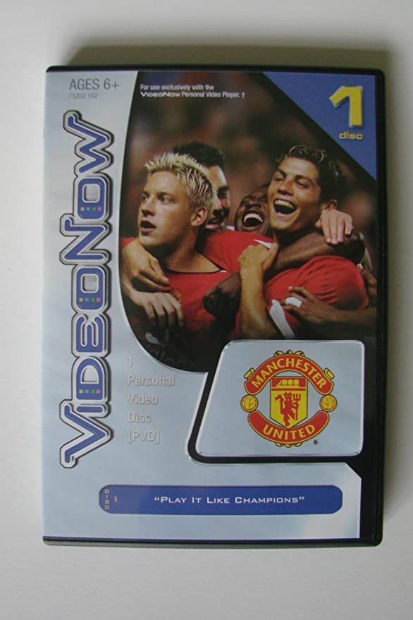 VIDEONOW PVD MANCHESTER UNITED Premier League Disc for Personal Video Player