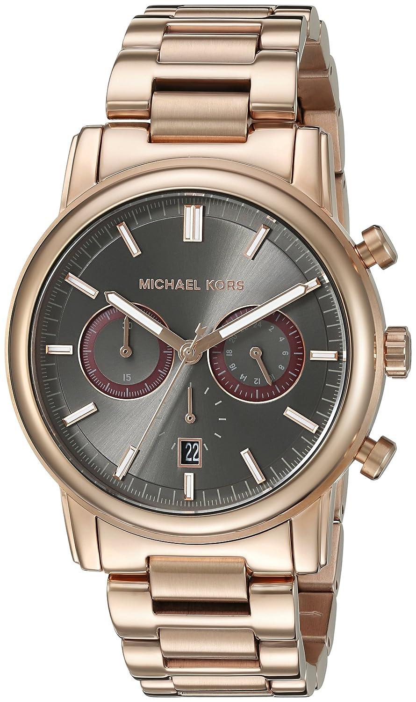 michael kors mk8370 43mm gold steel bracelet case mineral men s michael kors mk8370 43mm gold steel bracelet case mineral men s watch amazon co uk watches