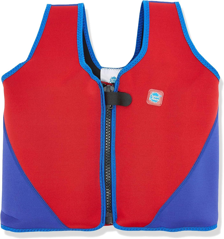 Splash About BJR6 - Chaleco Flotador para niños, Color Rojo/Azul Marino, 6-10 años