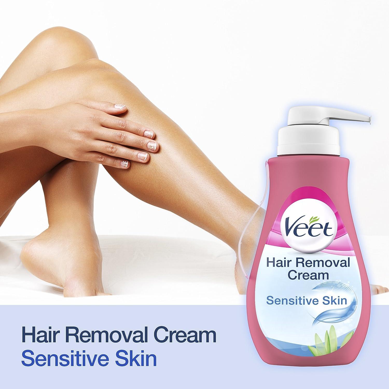 Amazon.com : Veet Hair Removal Cream Sensitive Skin with Aloe Vera & Vitamin E (400ml) : Beauty