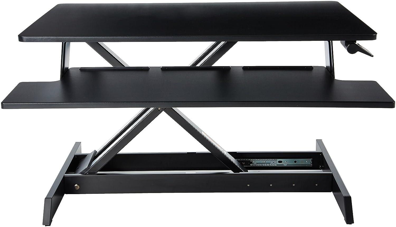 Amazon.com: AmazonBasics Height Adjustable Standing Desk Converter ...