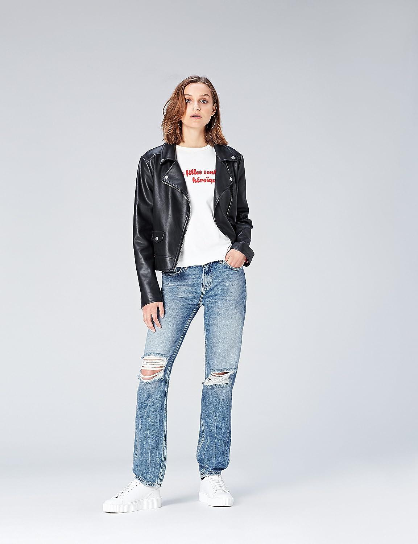 find Jeans Boyfriend con Strappi Donna