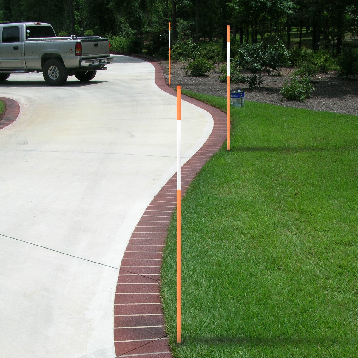 FiberMarker 36-Inch Reflective Driveway Markers Driveway Poles for Easy Visibility at Night 1//4 Inch Diameter Orange 12 Pack