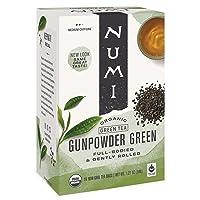 Numi Organic Tea Gunpowder Green, 18 Count Box of Tea Bags (Pack of 3) (Packaging...