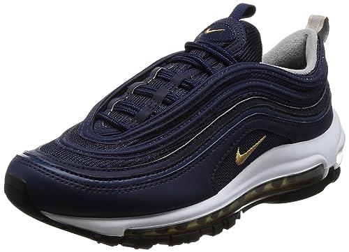 new product 2f543 71915 Nike Men's Air Max 97, Midnight Navy/Metallic Gold, 10 M US ...
