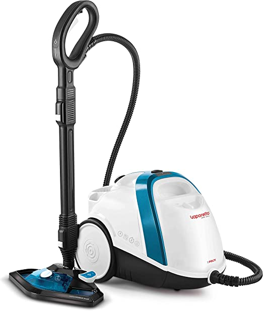 Polti Vaporetto Smart 100_B Cylinder steam cleaner Blue,White 1500 W - Vaporeta (Cylinder steam cleaner, Buttons, Stainless steel, Blue,White, 1500 W, Glass,Hard floor,Laminate,Tiles): Amazon.es: Hogar