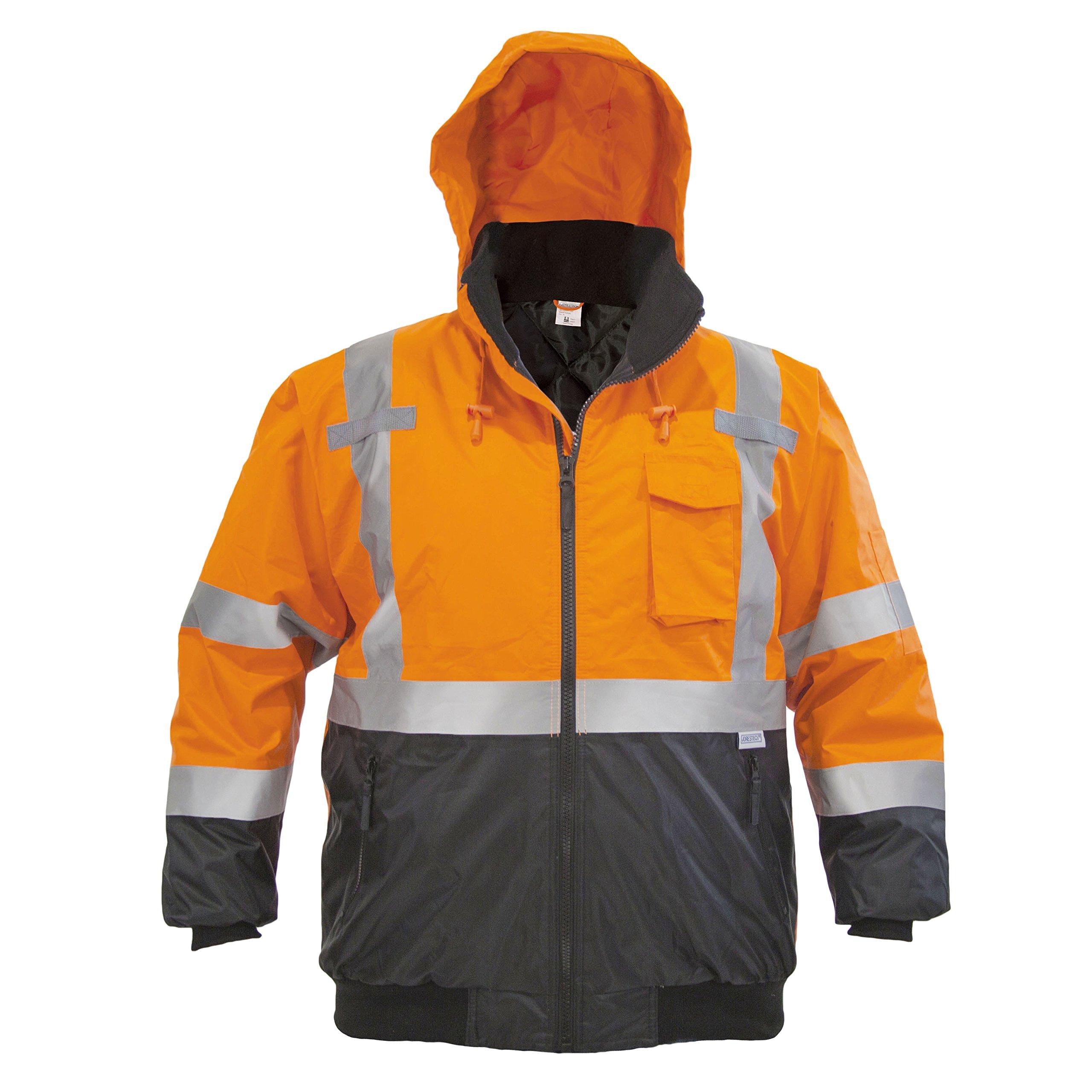 JORESTECH High Visibility Waterproof Bomber Jacket (3X-Large, Orange) by JORESTECH  (Image #3)